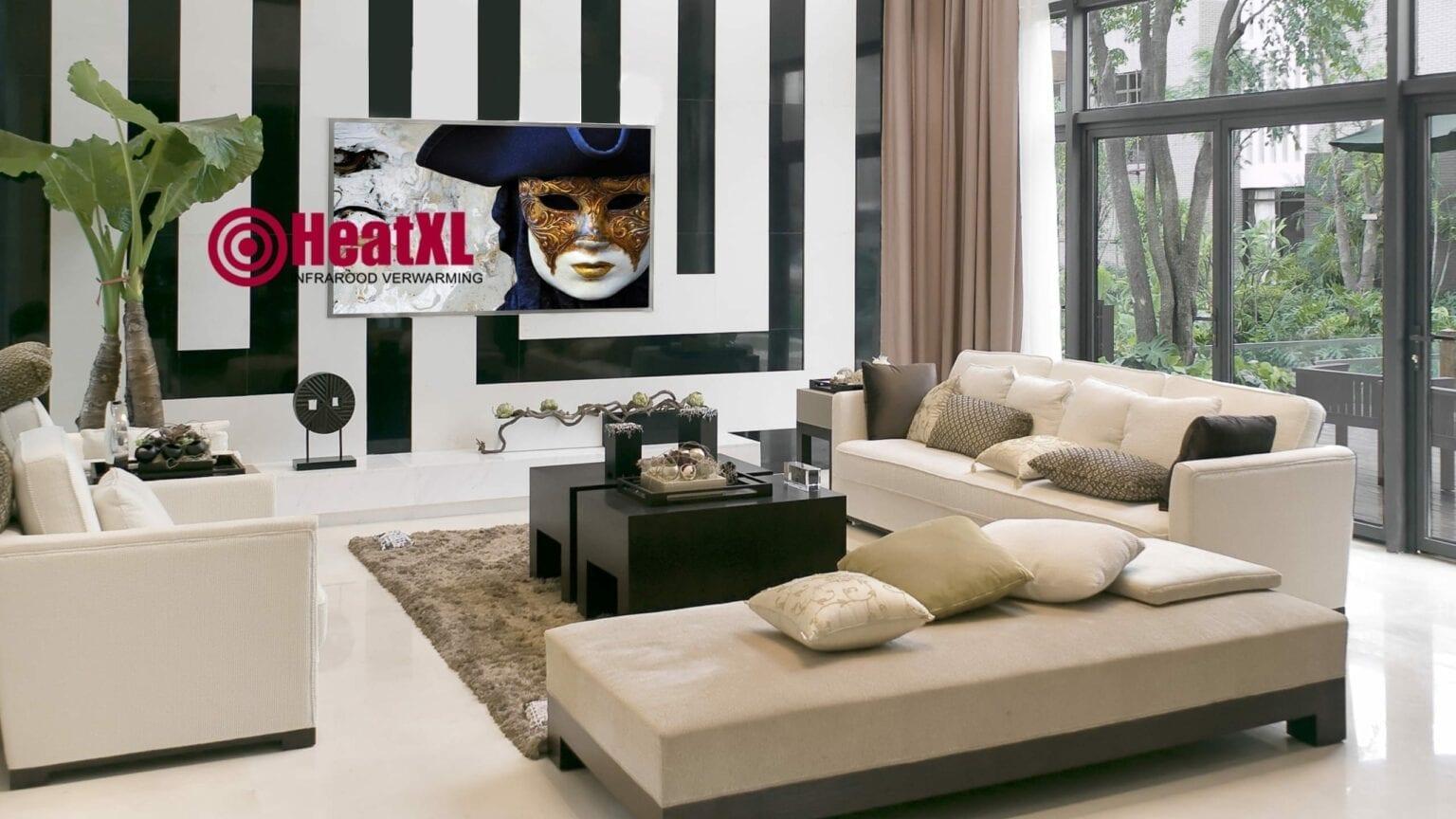 woonkamer infrarood paneel schilderij Venetie afbeelding