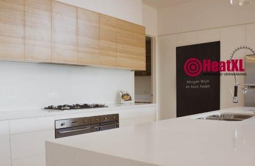 krijtbord met verwarming keuken